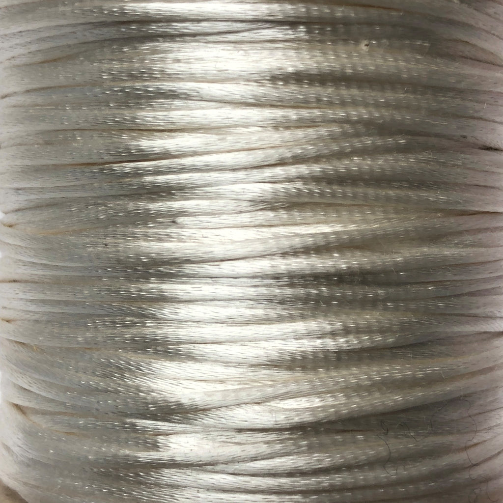 Size #2 - 3MM Ivory Satin Cord (Rattail) 144 Yds