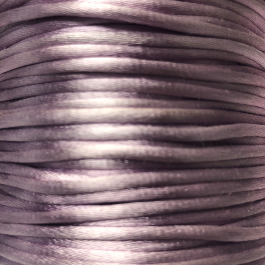 Size #2 - 3MM Lavender Satin Cord (Rattail) 144 Yds
