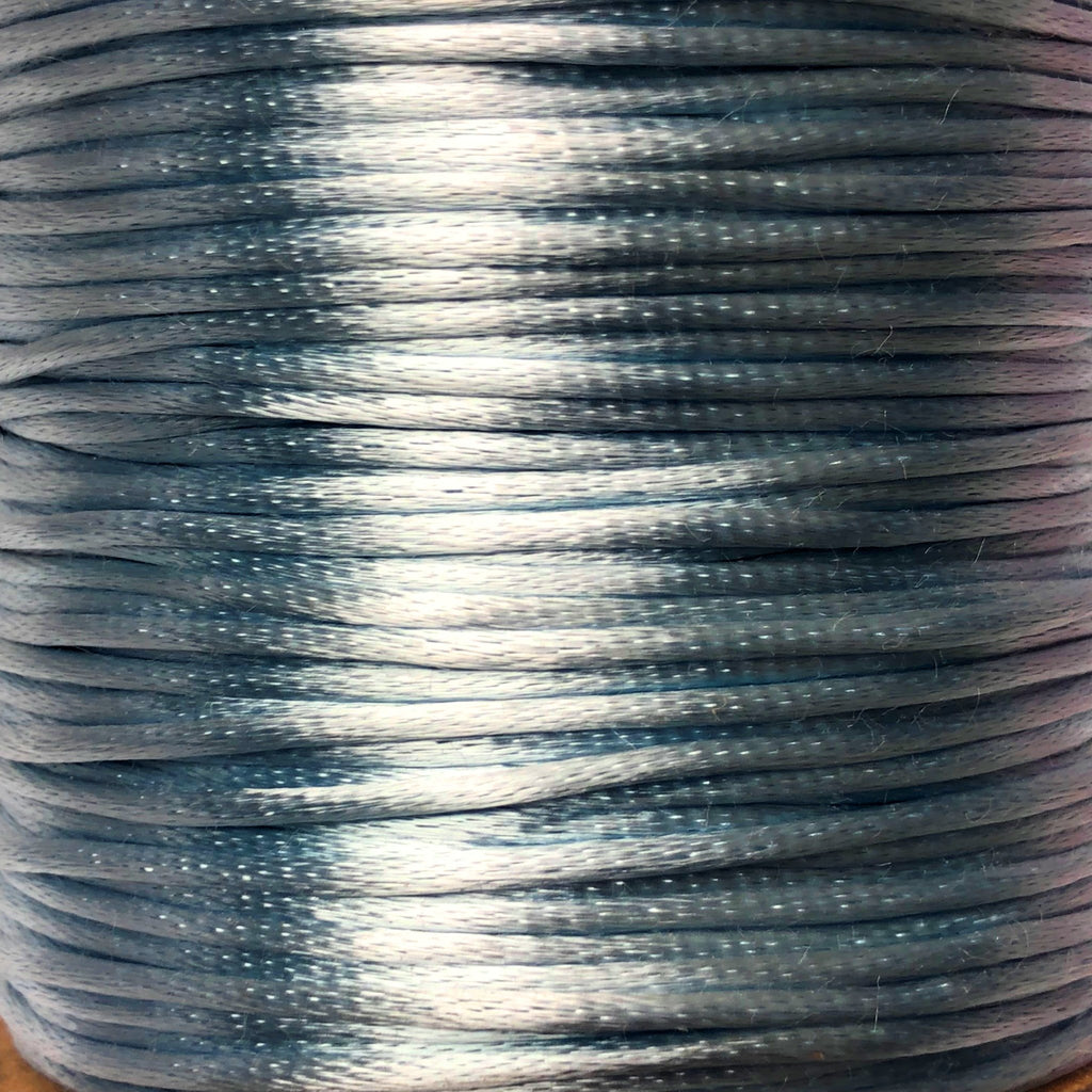 Size #1 - 2MM Lt Blue Satin Cord (Rattail) 144 Yds