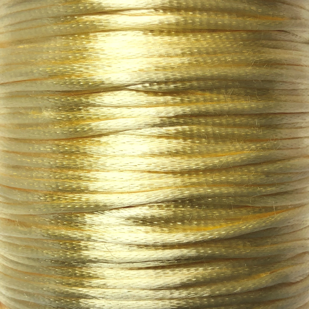 Size #1 - 2MM Lt Yellow Satin Cord (Rattail) 144 Yds