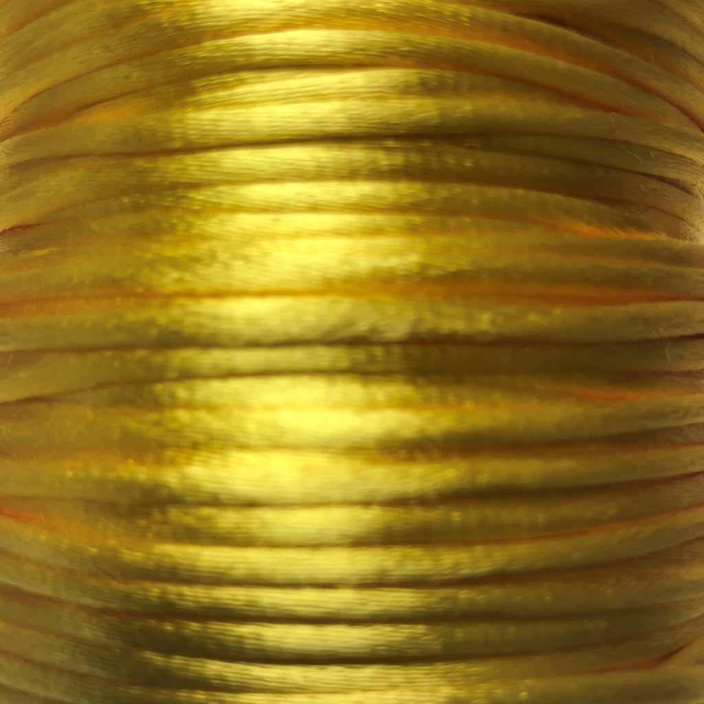 Size #2 - 3MM Maize Satin Cord (Rattail) 144 Yds