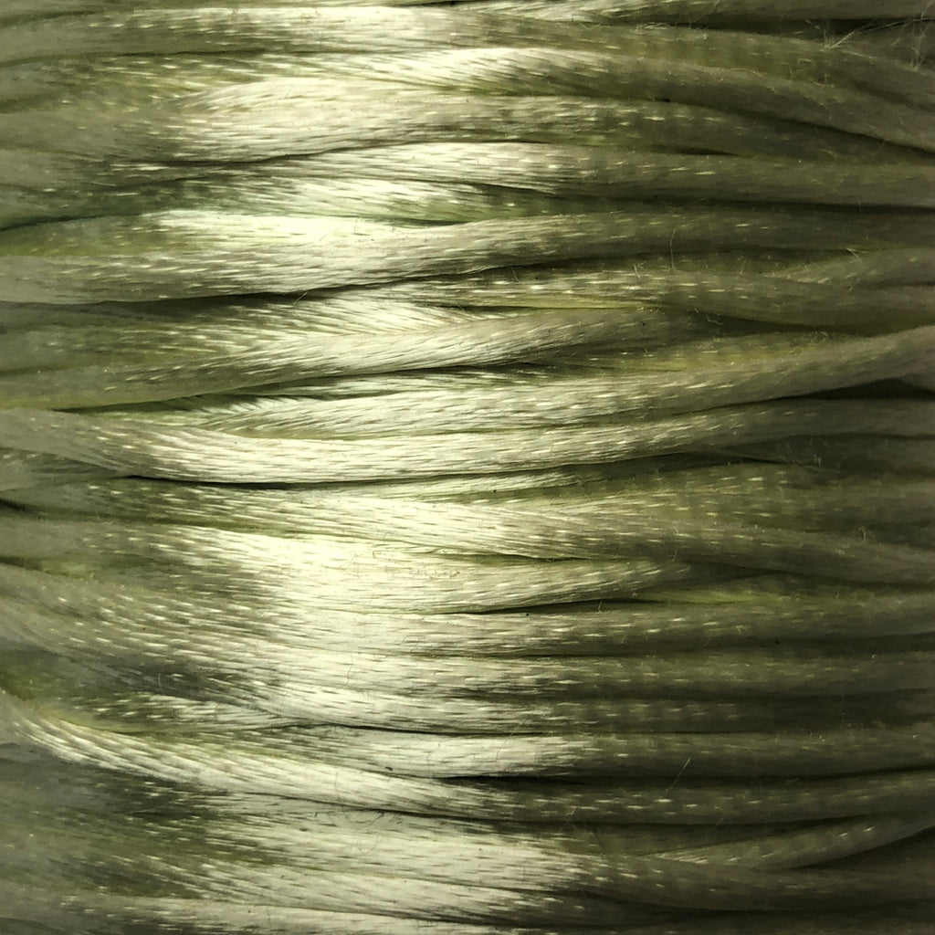 Size #1 - 2MM Mint Green Satin Cord (Rattail) 144 Yds