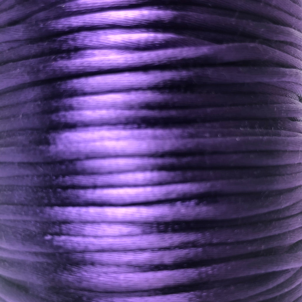 Size #2 - 3MM Purple Satin Cord (Rattail) 144 Yds