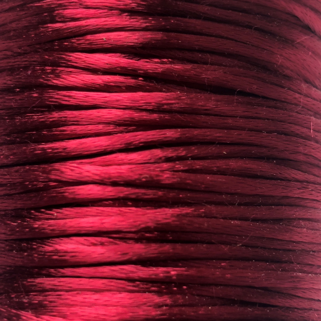 Size #2 - 3MM Wine Satin Cord (Rattail) 144 Yds