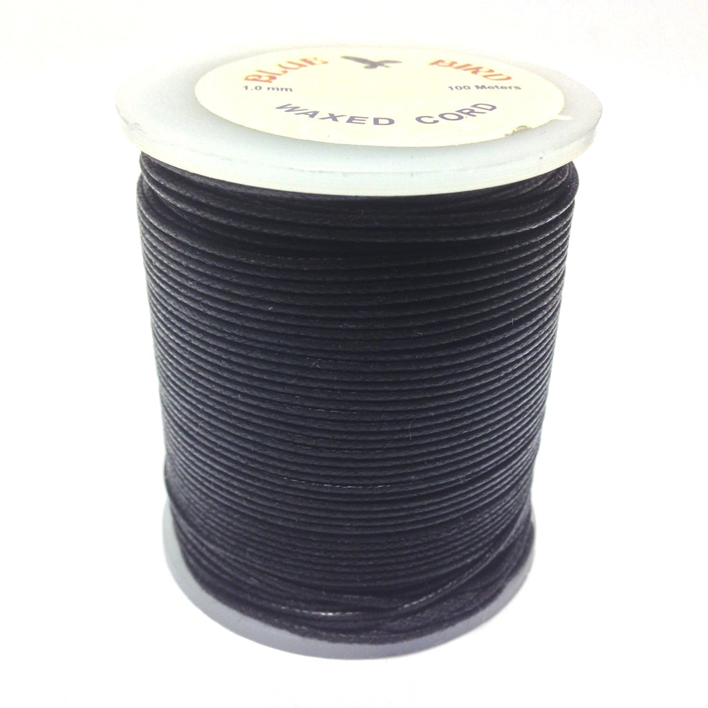 2MM Black Imitation Leather 100M Spl (Waxed Cotton