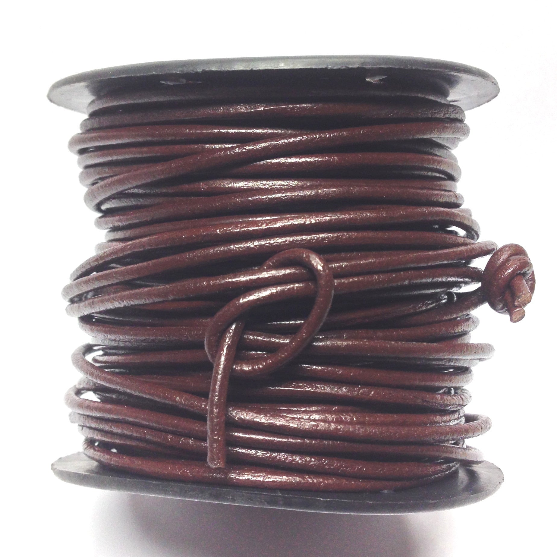 1MM Brown Leather Lace 100Yd