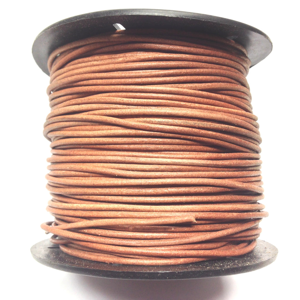 2MM Natural Leather Lace 100Yd Spool