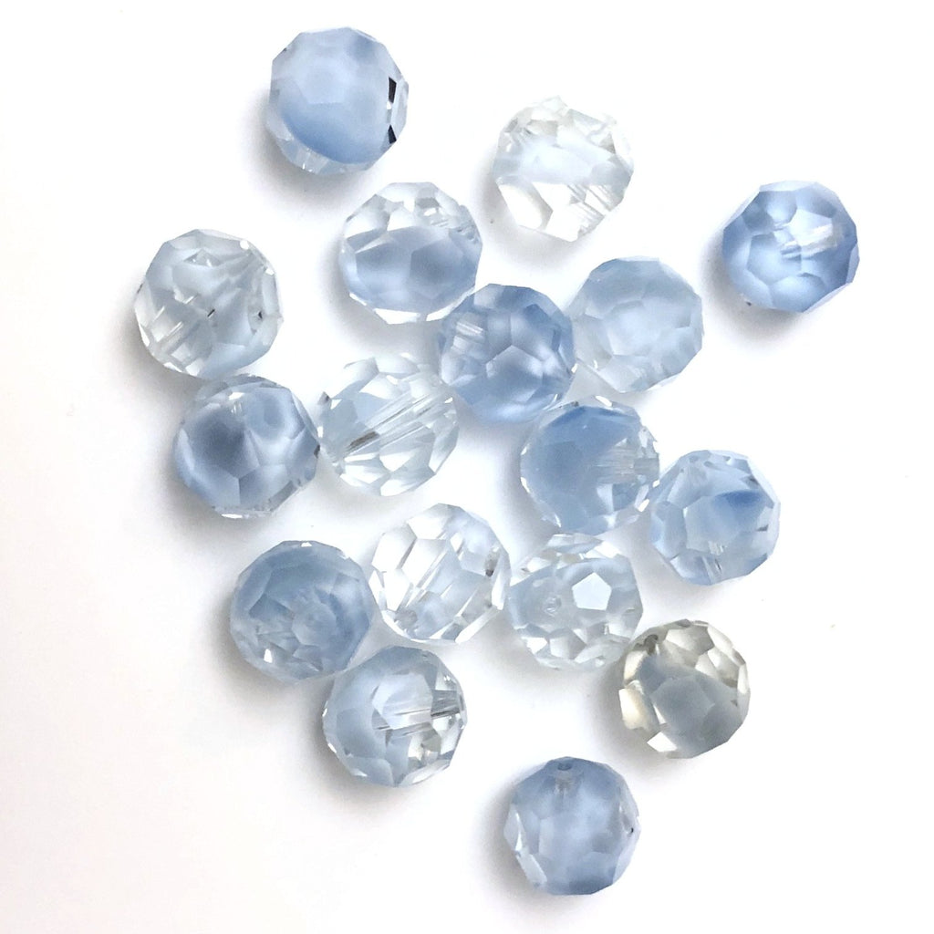 11MM Crystal/Lt. Blue Givre (36 pieces)