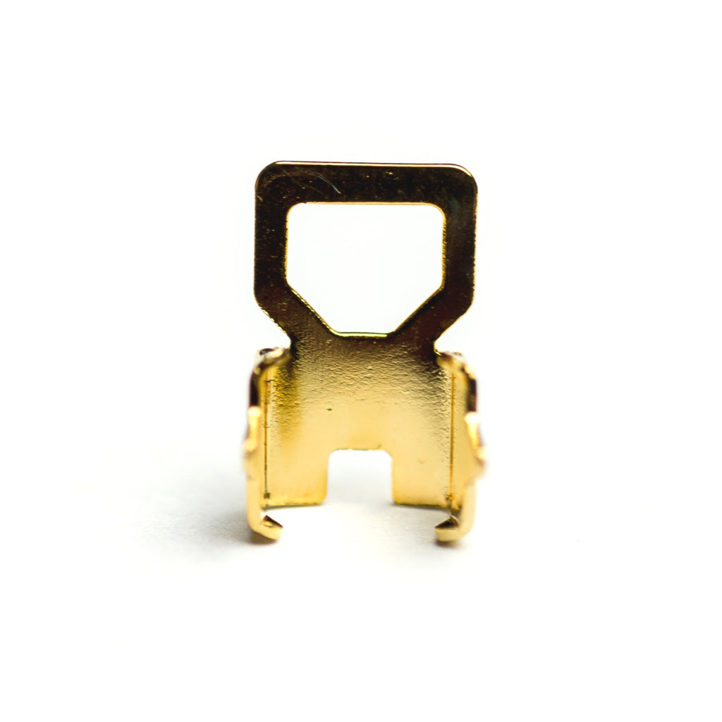 4MM Square Crimp Foldover Gold (36 pieces)