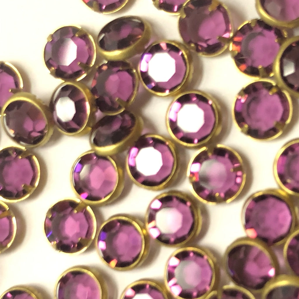 Ss29 Channel Amethyst/Brass (No Loop) (48 pieces)