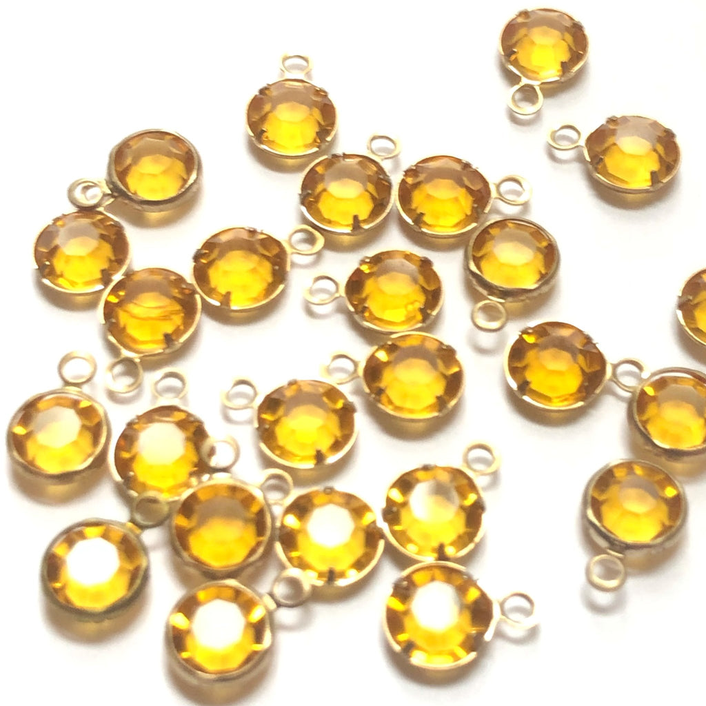 Ss29 Channel 1 Ring Topaz/Brass (48 pieces)