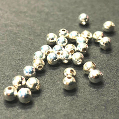 .925 Sterling 6MM Round Bead (12Pc/Pk)
