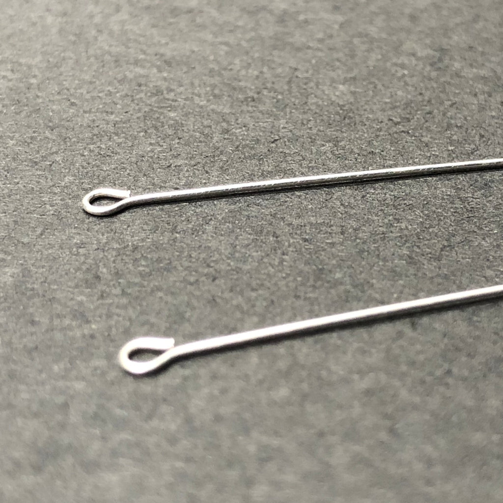 ".925 Sterling Eyepin .025 X 1.5"" (36 Pc/Pk)"