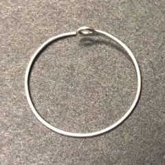 .925 Sterling 22MM Hoop With Eyeloop (12 Pc/Pk)