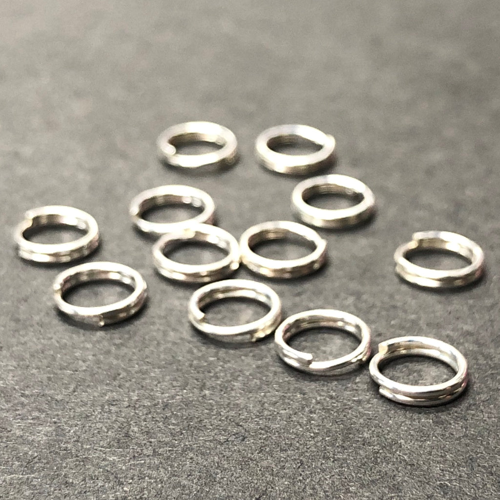.925 Sterling 4.5MM Round Split Ring (24Pc/Pk)