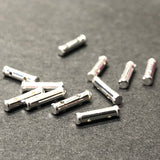 .925 Sterling 2-Hole Tube Spacer (12Pc/Pk)