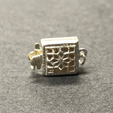 .925 Sterling Filigree Box Clasp (1Pc/Pk)