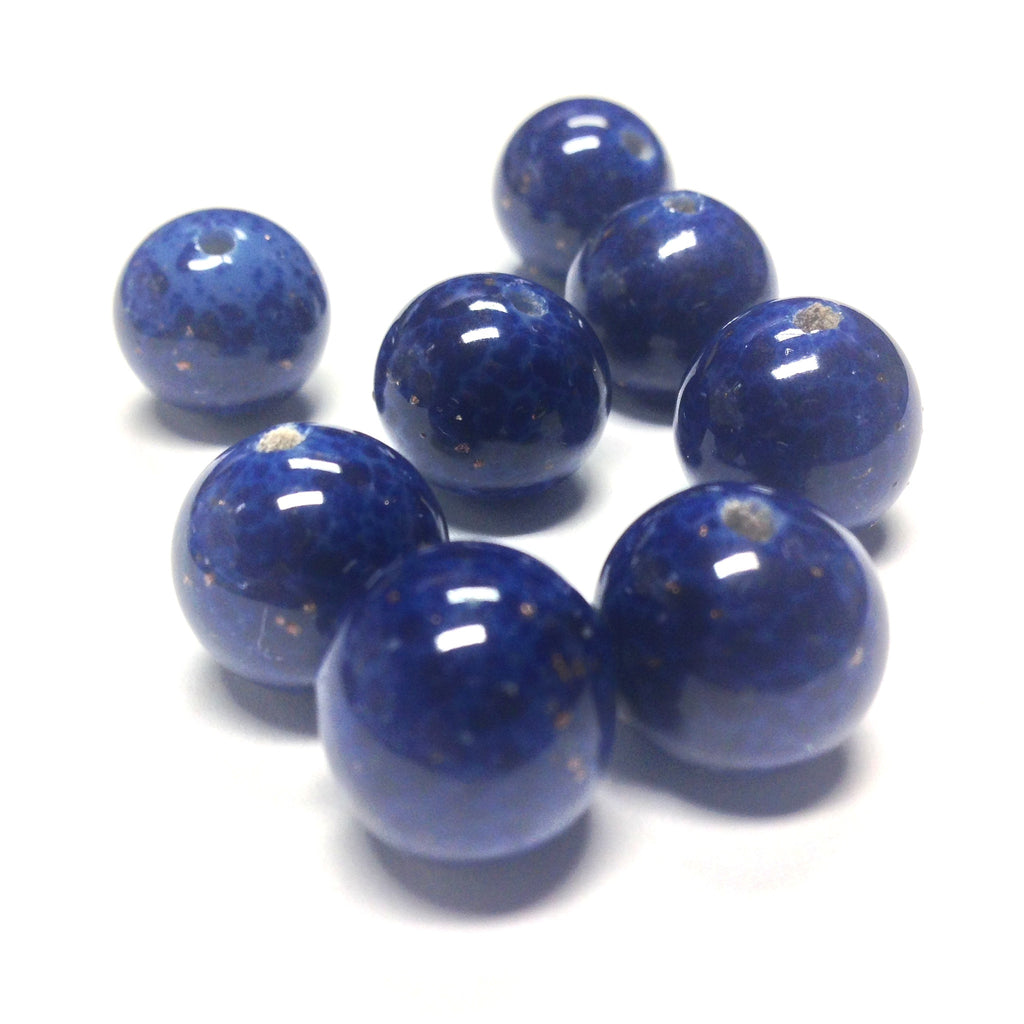 12MM Lapis w/Gold Flecks Glass Bead (36 pieces)