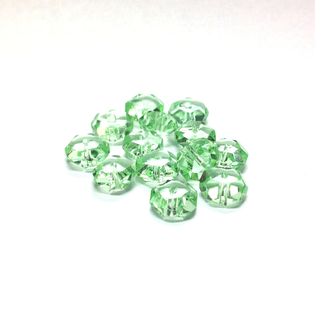 8MM Peridot Green Tin Cut Rondelle (72 pieces)