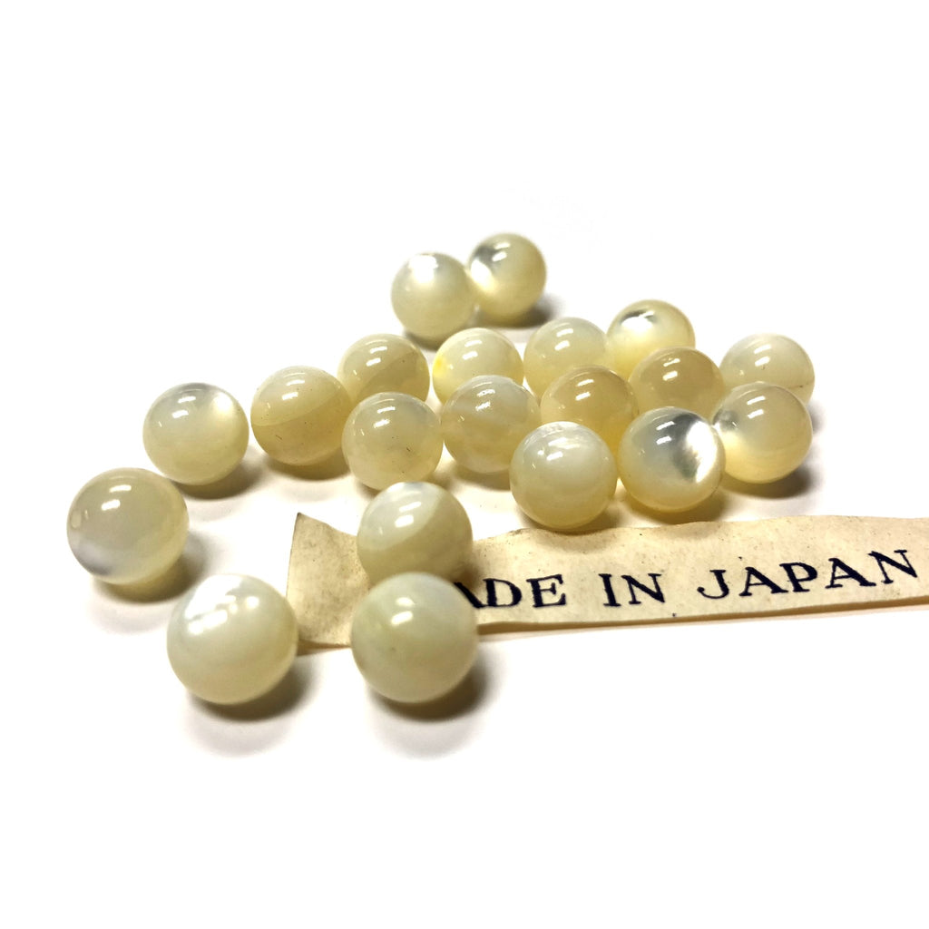 8MM Mother Of Pearl 1-Hole Ball (72 pieces)