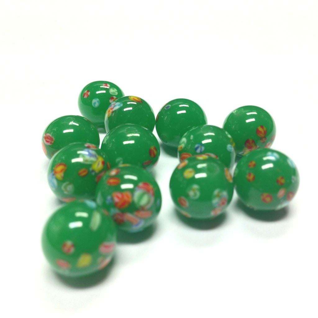 10MM Jade Round Glass Tombo Bead (24 pieces)