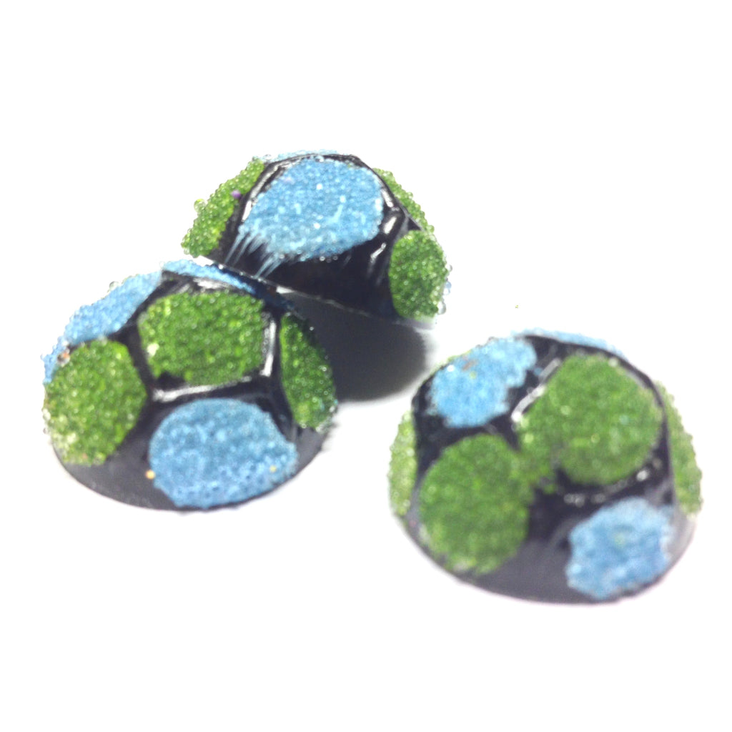 20MM Blue/Green Spotted Cab (12 pieces)