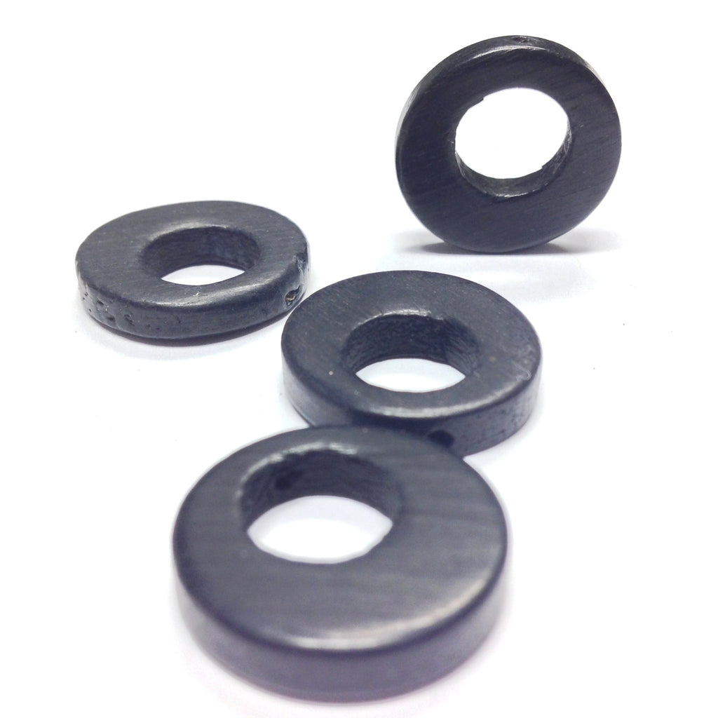 18MM Black Wood Hoop Drop (72 pieces)