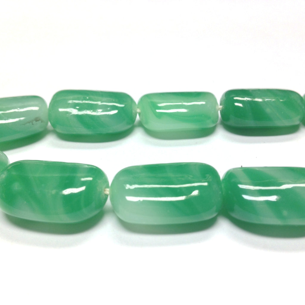 21X16MM Jade Glass Rectangle Bead (12 pieces)
