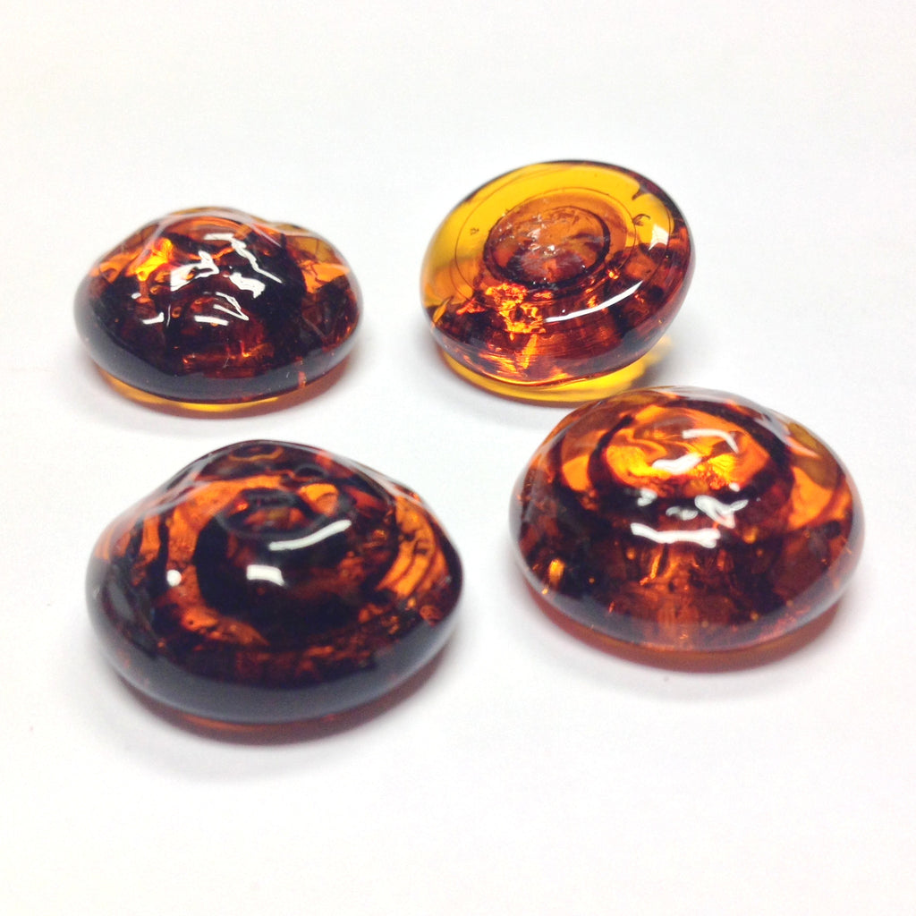 18MM Tortoise Glass Baroque Cab (12 pieces)