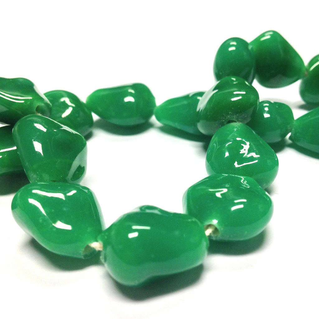 14MM Jade Flat Baroque Glass Bead (36 pieces)