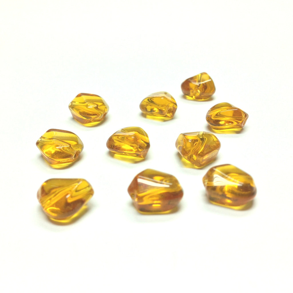 10MM Topaz Triangular Glass Bead (72 pieces)
