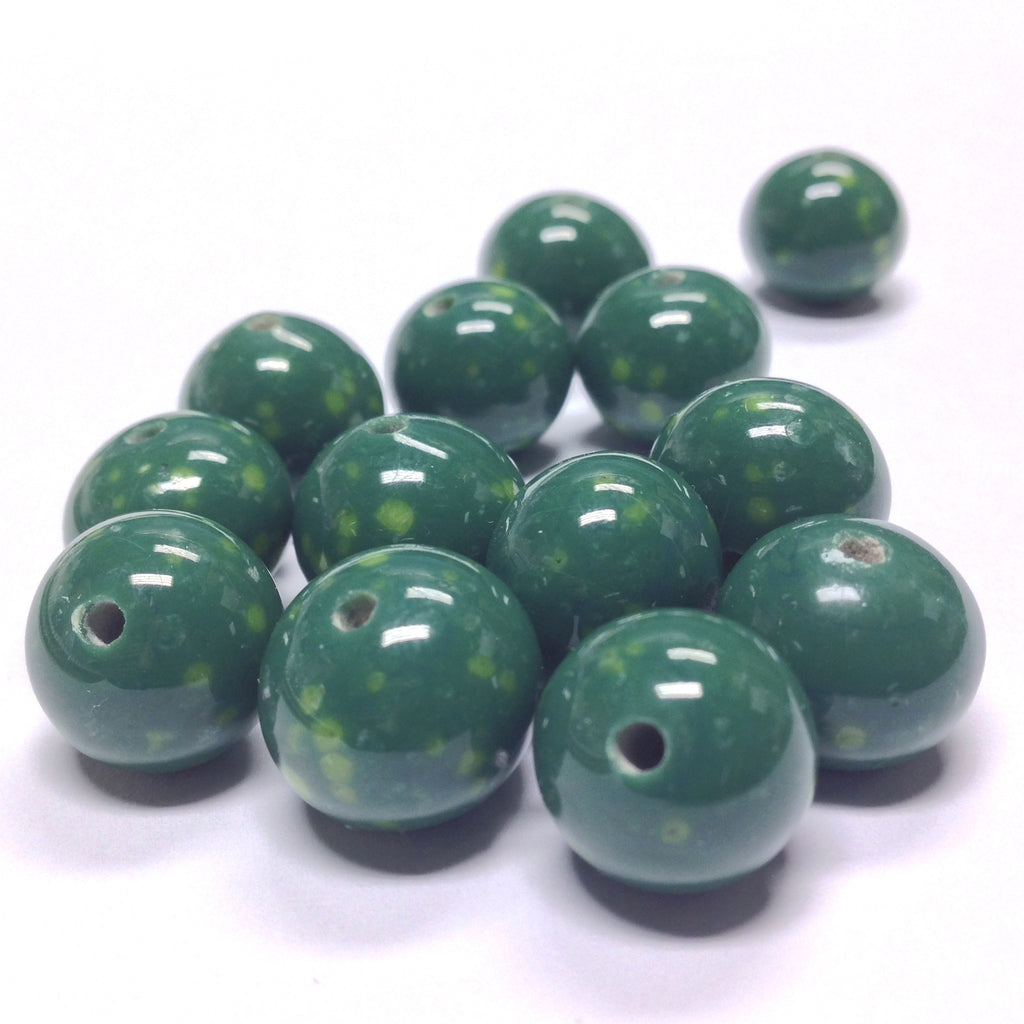 14MM Jade Glass Round Bead (24 pieces)