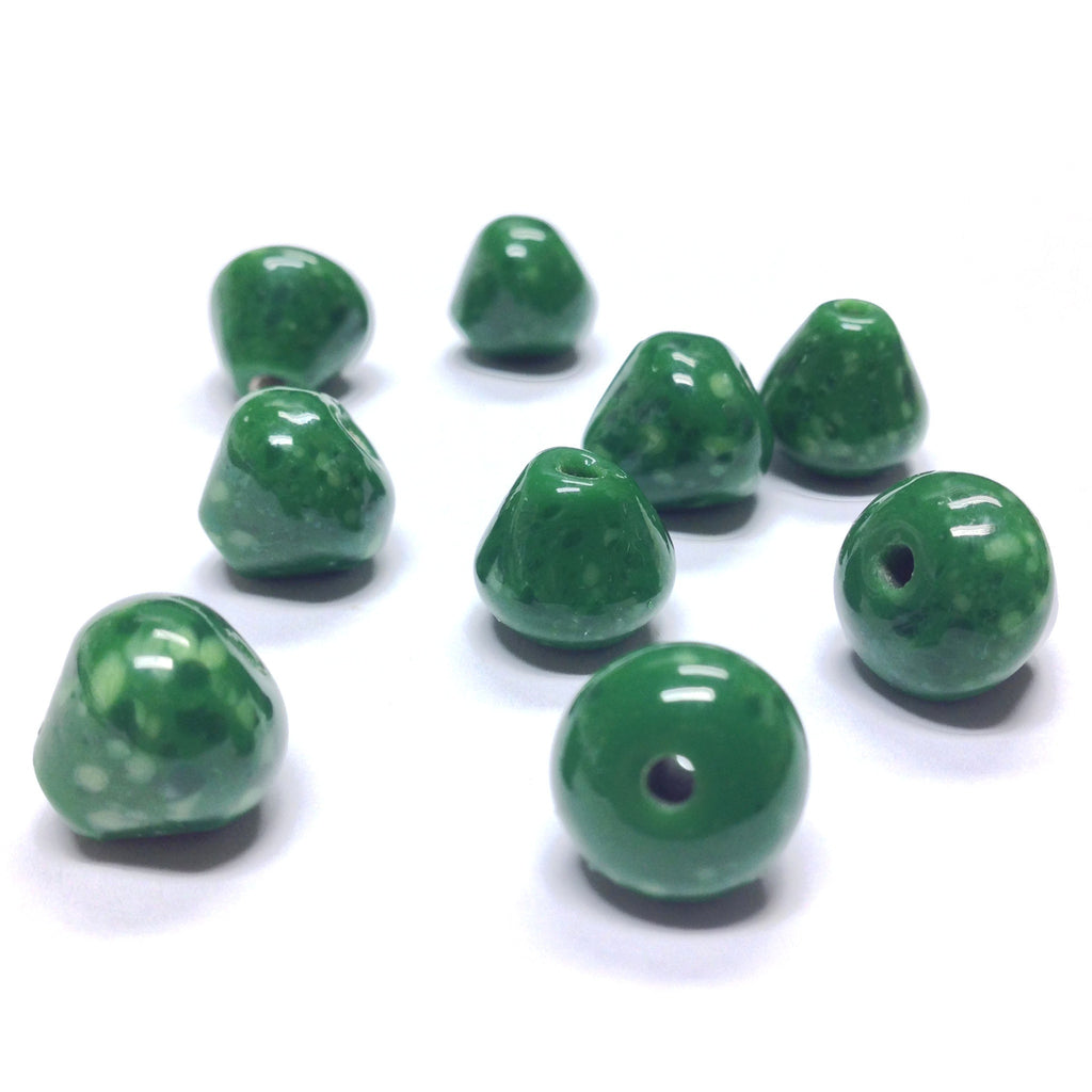 12MM Jade Glass Pearshape Bead (36 pieces)