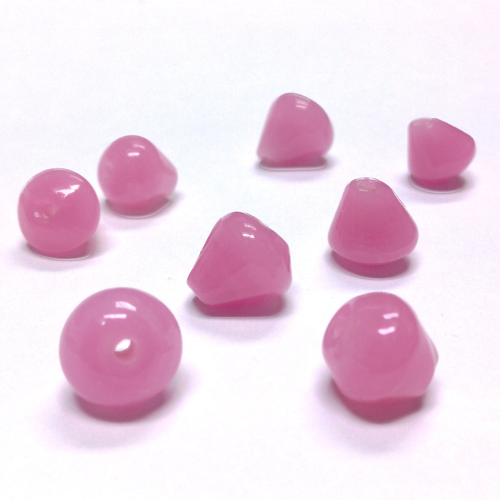 12MM Rosequartz Glass Pearshape Bead (36 pieces)
