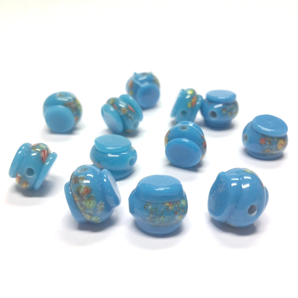 11MM Blue Turquoise Tombo Glass Drum Bead (36 pieces)