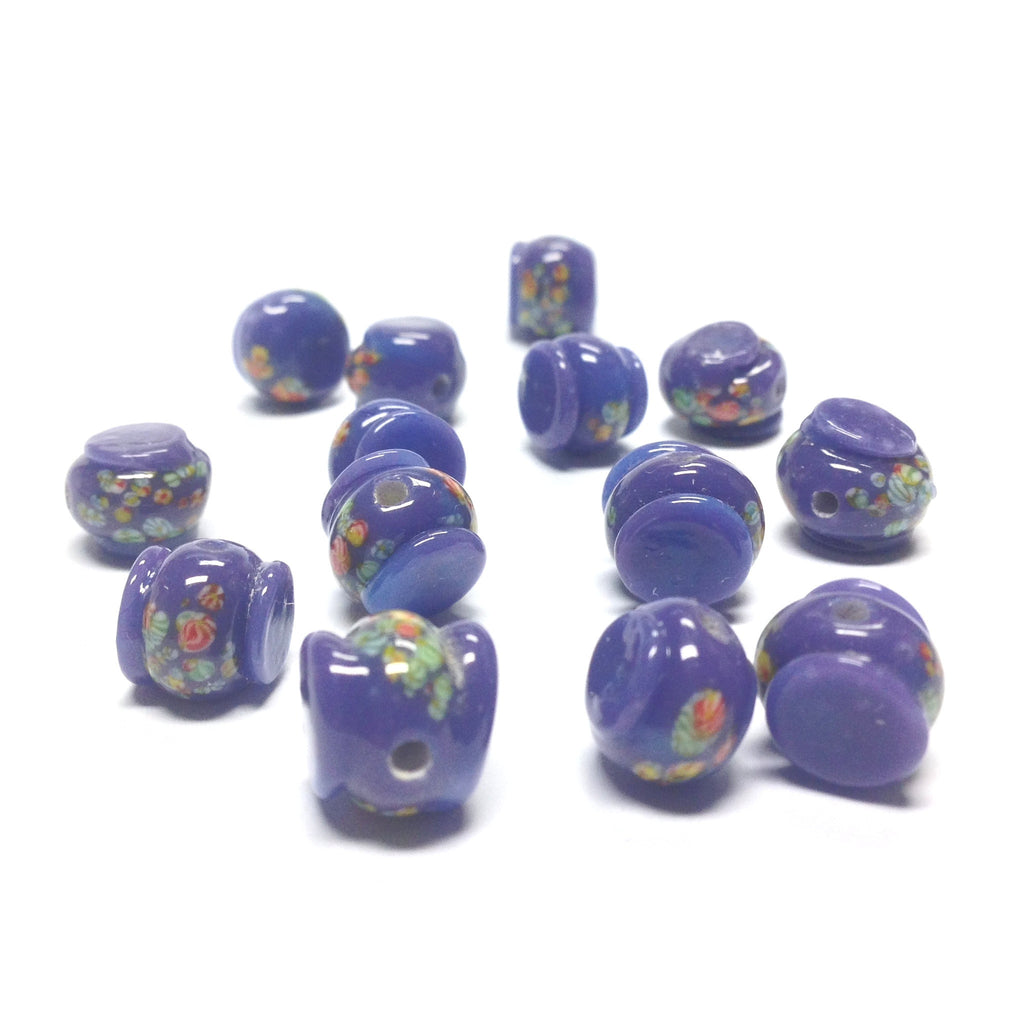 11MM Lilac Tombo Glass Drum Bead (36 pieces)