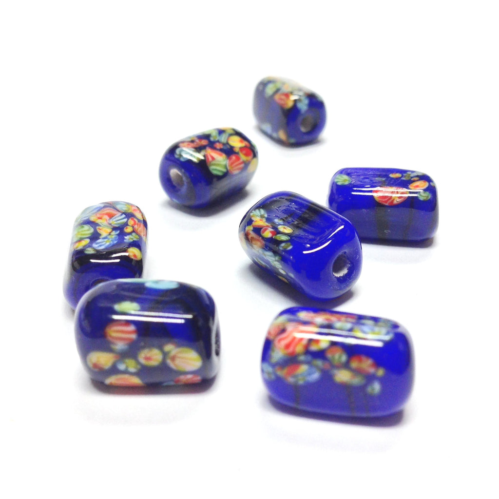 13X9MM Navy Blue Glass Tombo Rectangle Bead (36 pieces)