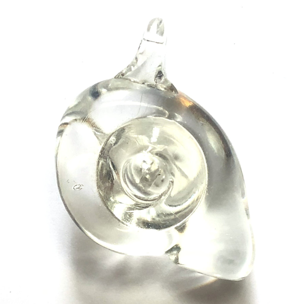 33MM Crystal Snail Drop (2 pieces)