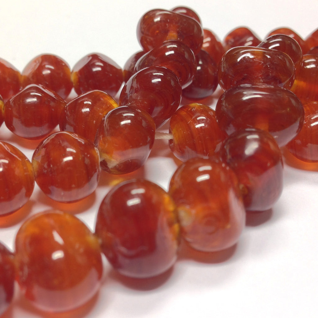 12X16MM Amber Baroque Glass Bead (72 pieces)