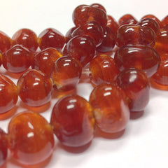 10X12MM Amber Baroque Glass Bead (72 pieces)