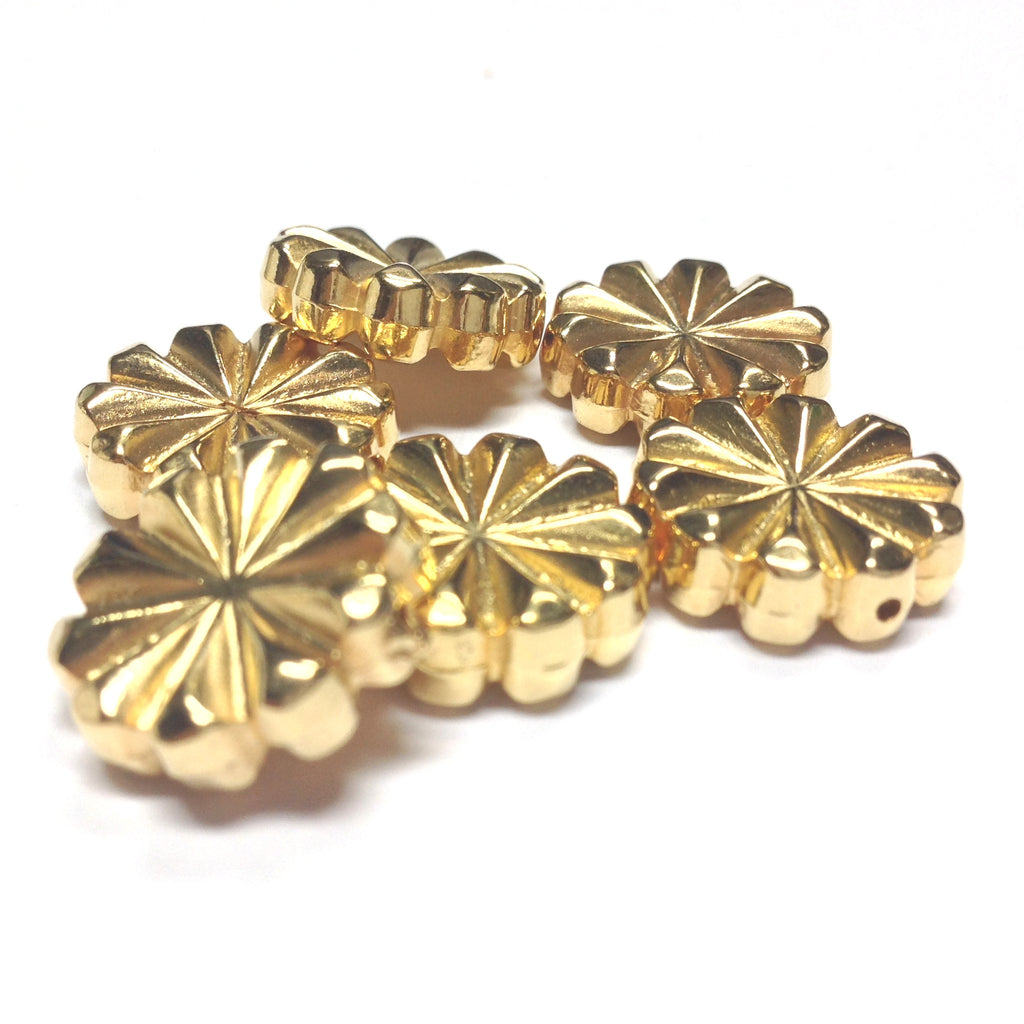 16MM Ham.Gold Fancy Disc Bead (36 pieces)