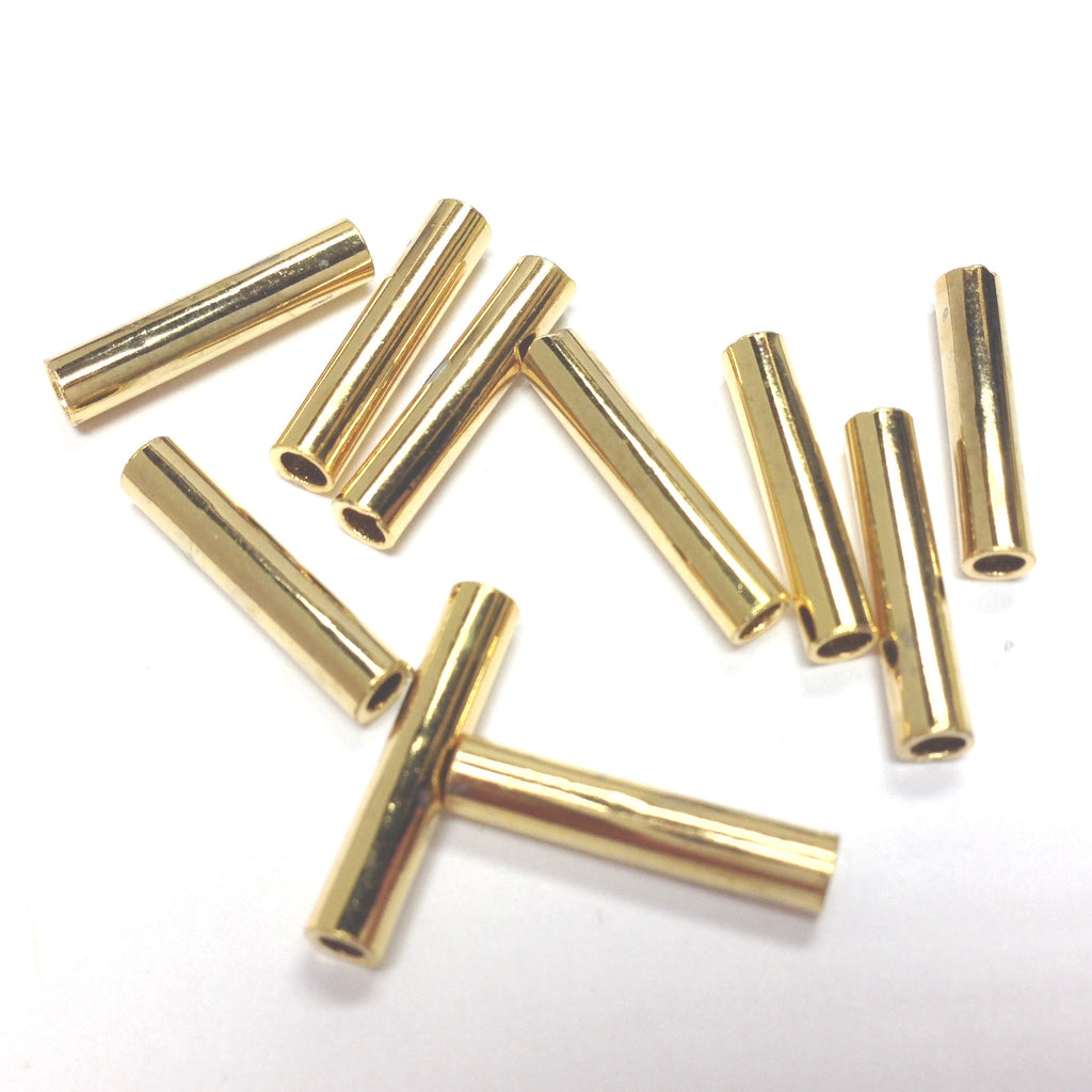 15X3MM Hamilton Gold Tube Bead (144 pieces)