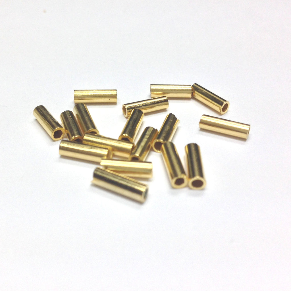 8X2.5MM Hamilton Gold Tube Bead (144 pieces)