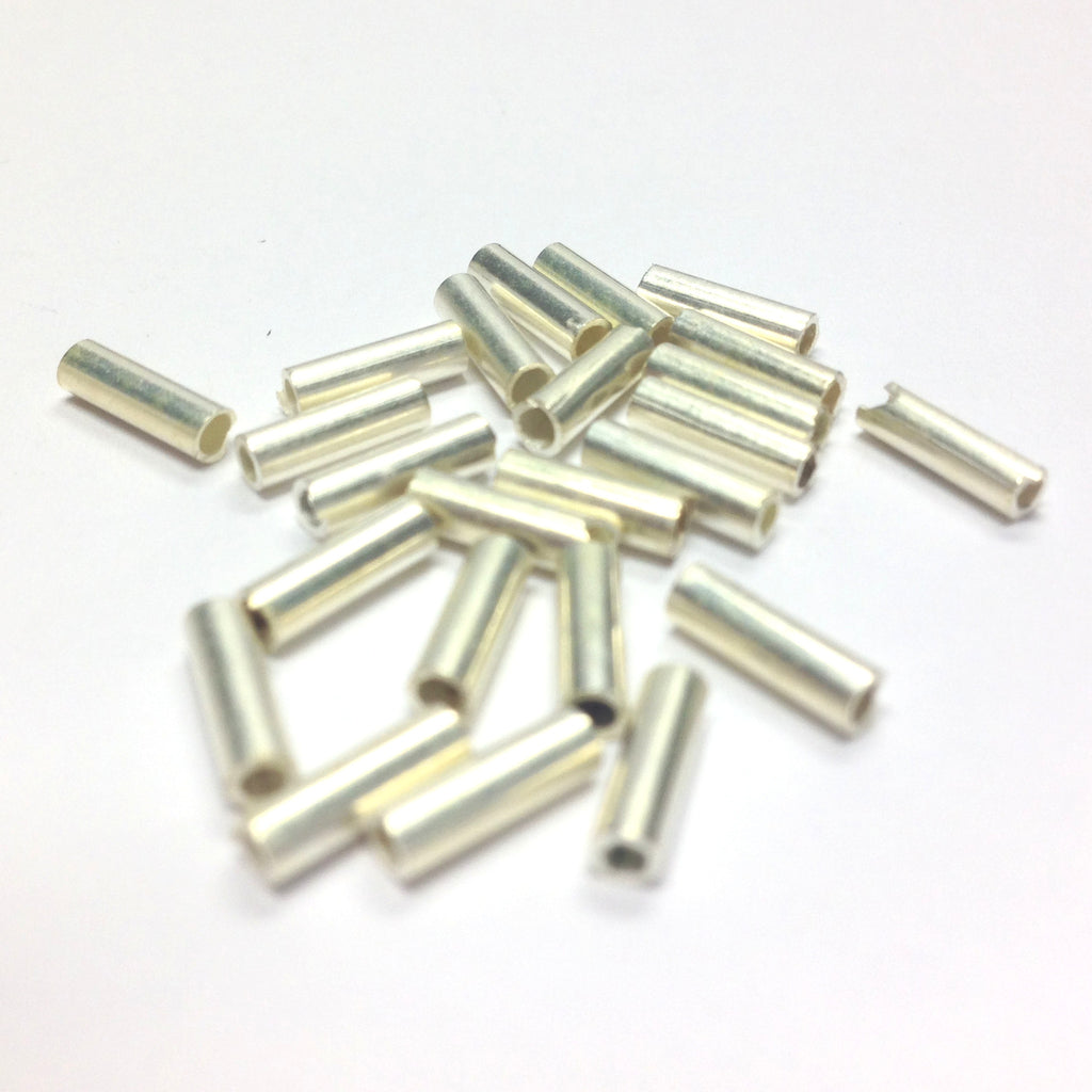 8X2.5MM Silver Tube Bead (144 pieces)