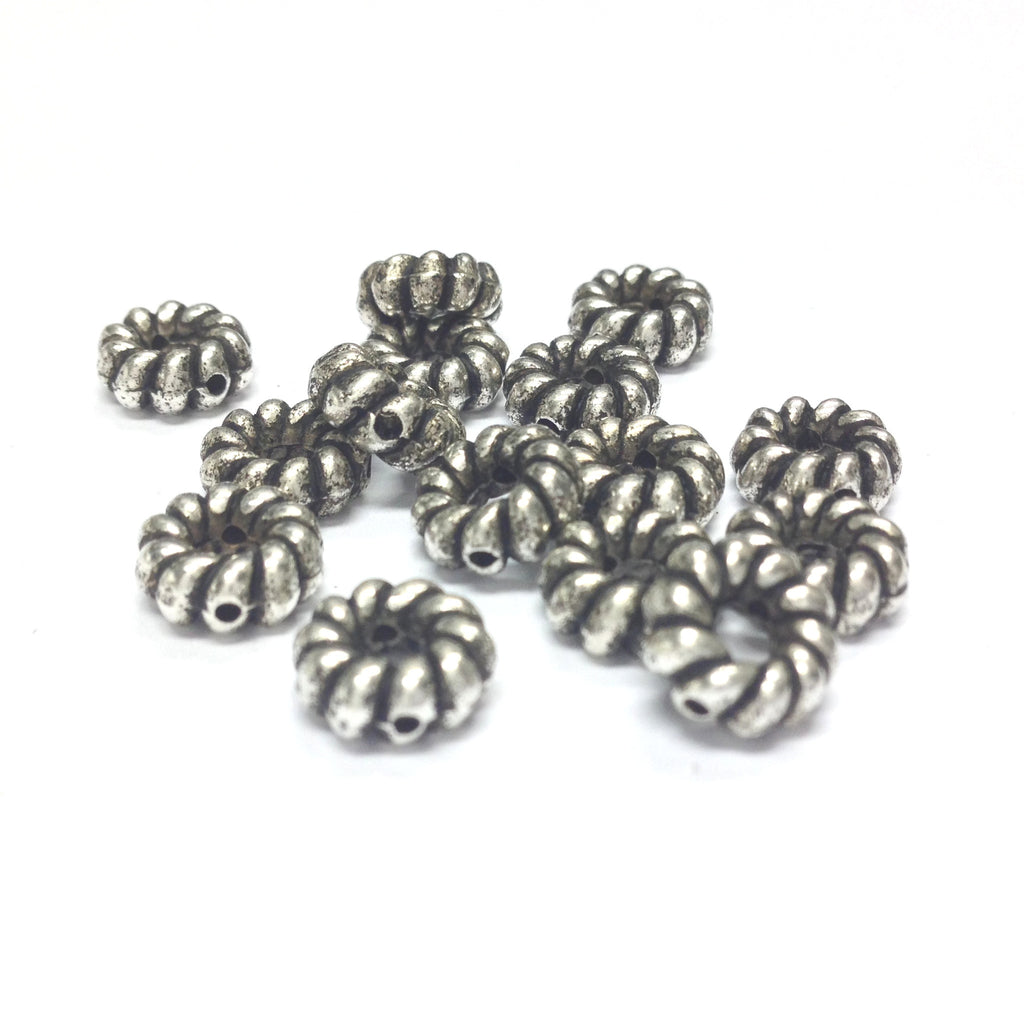9MM Ant.Silver Fancy Ring Bead (144 pieces)