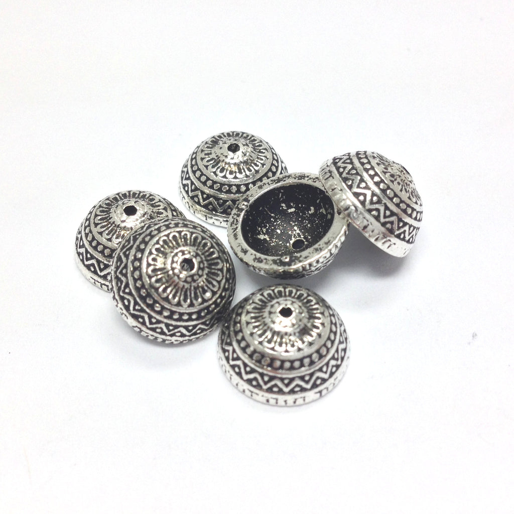 12MM Antique Silver Cap (72 pieces)