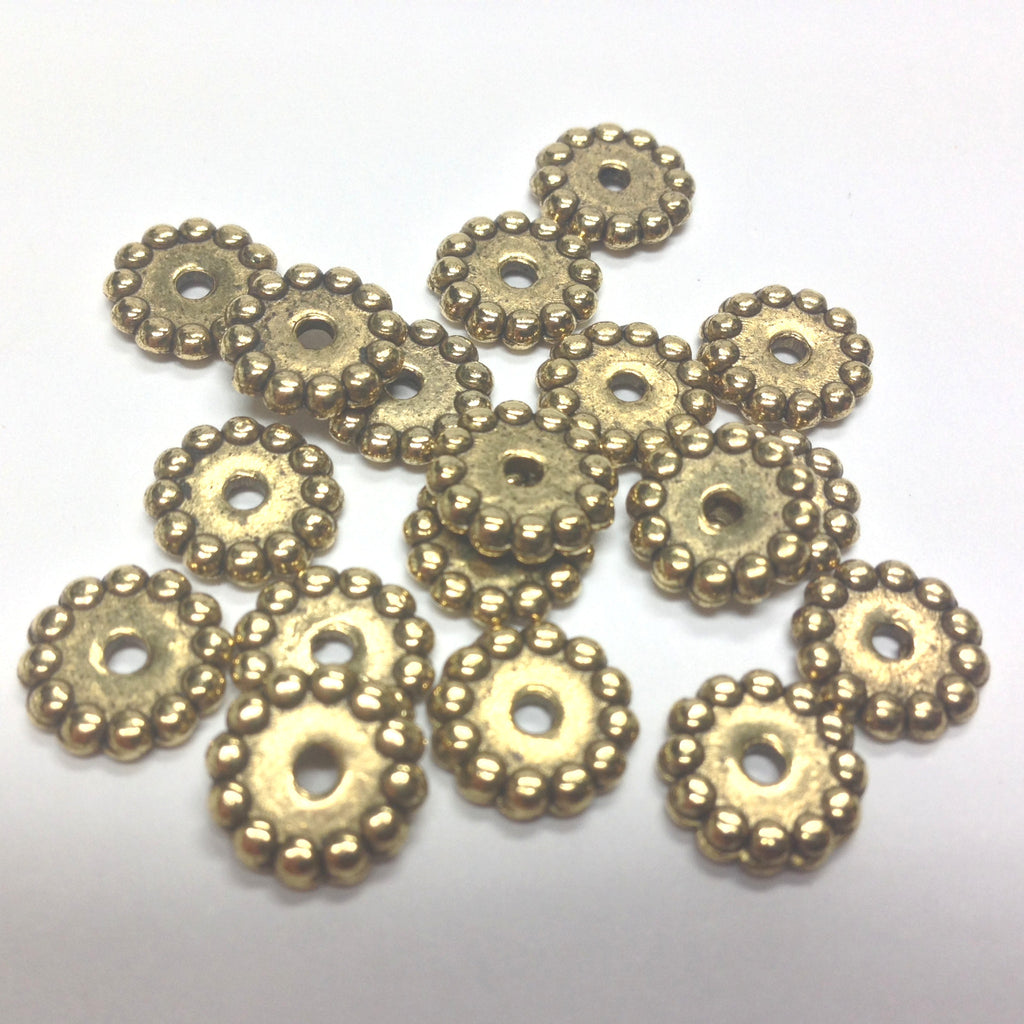 10MM Ant. Ham Gold Rondel (72 pieces)