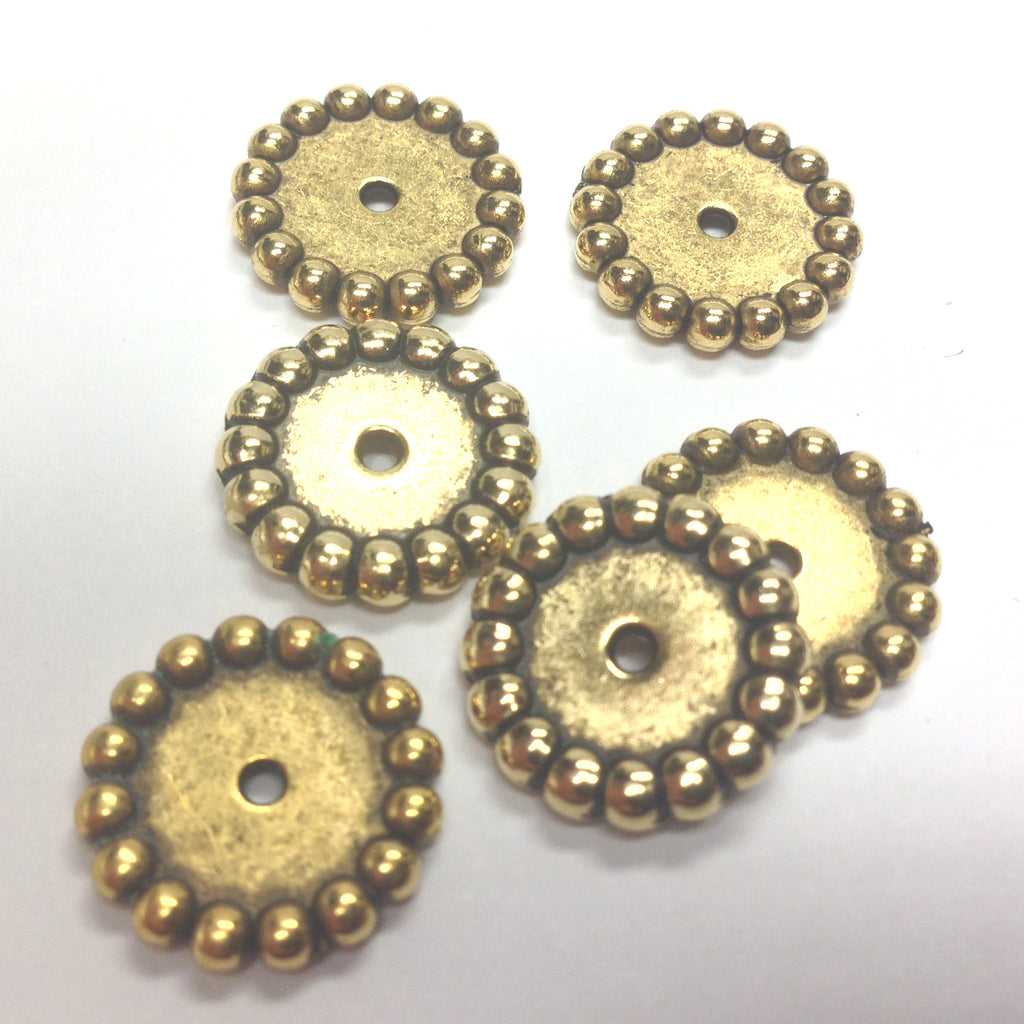 15MM Ant. Ham Gold Rondel (72 pieces)