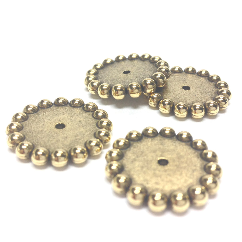 20MM Ant. Ham Gold Rondel (36 pieces)