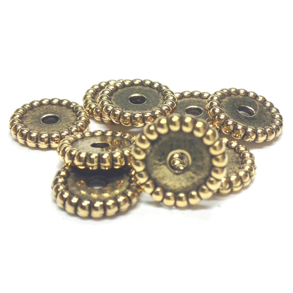 10MM Ant. Ham Gold Rondel Bead (144 pieces)